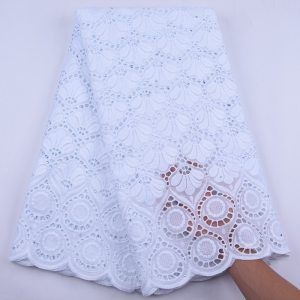 Nigeria Swiss Voile Cotton Lace Fabric 2020 White Swiss Voile Laces In Switzerland African Dry Lace Fabric For Women Dress Y1944