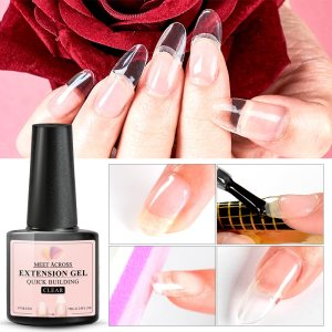 Quick Extension Gel Nude White Clear Acrylic Quick Building Nail Gel Manicure Soak Off Crystal Jelly Fast Tips Finger Extension