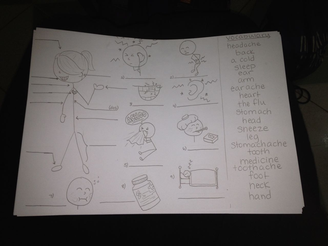 A Worksheet Kaitlyn Made By Hand For Our English Students
