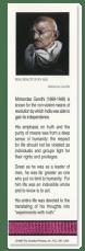 Mahatma Gandhi bookmark