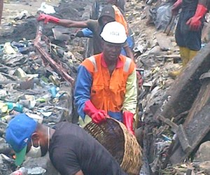 Employees of the Rivers State Waste Management Agency at work