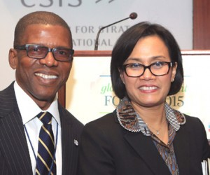 Emeka Ugwu-Oju, President, South-East South-South Professionals of Nigeria and Dr. Sri Mulyani Indrawati, Managing Director and Chief Operating Officer of the World Bank Group.