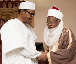 President-elect, Muhammadu Buhari, Tuesday, May 19, paid a courtesy visit to the Emir of Katsina, Alhaji Abdulmumini Kabiru Usman in Katsina State.