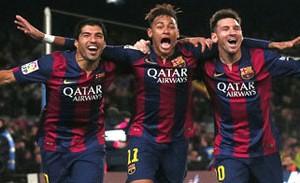 Suarez, Neymar Jr, Messi