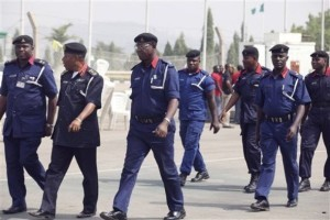 The Nigerian Security and Civil Defence Corps (NSCDC).