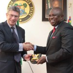 (Photonews) Ambode receives Deputy UK High Commissioner; Acting U.S Consulate General; ANCchieftain at Lagos House House, Ikeja