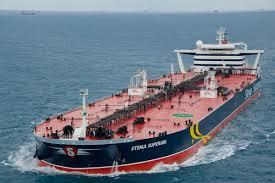 A crude oil vessel