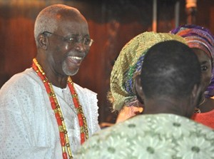 OPC Founder, Dr. Frederick Fasehun, at the Saint Peter's Anglican Church, Ajele Street, Faji, Lagos Island, during a Thanksgiving/Communion Service marking his 80th birthday, today, September 21, 2015