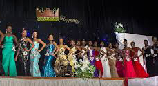 Contestants at the Miss Black Africa UK pageant