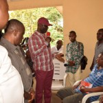 (Photonews) Abia Deputy Gov. commiserates with petrol tanker explosion victim, inspects MCC Road