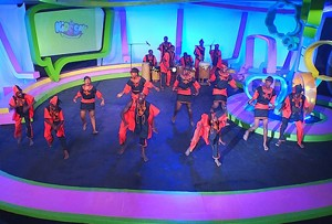 Children performing on the show