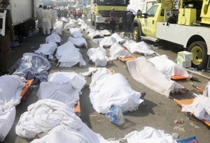 Victims of the hajj stampede in Saudi Arabia