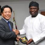 (Photonews) Gov Ambode received Korean ambassador Kyu-Duk in Ikeja