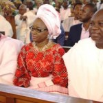 (Photonews) Gov. Ambode graces wedding ceremony of Prince Olagunsoye Oyinlola's daughter at TBS, Lagos
