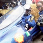 (Photonews)  Shell Eco-marathon competition: Students demonstrate self-built car, Delta Cruz