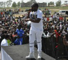 Ice Prince performing on stage