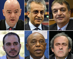 The candidates vying to replace Sepp Blatter