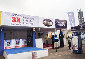 Dangote's stand