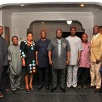 (Photonews)  Abia Governor, Dr. Ikpeazu with Enyimba Industrial Development Company Board
