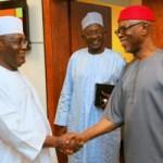 (Photonews) Atiku receives APC national chairman, Oyegun; Bauchi Governor; NYCN