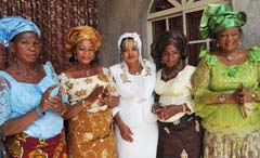 (L-r): Women president Mrs Maria Abumere , Mrs Josephine Eboagwu, Pastor (Mrs) Rosemary Collins ,Mrs Juliet Harrison , and  Mrs Patricia Igbelina at the thanksgiving service