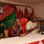 (Photonews)  Abia Governor, Okezie Ikpeazu, parleys with the media