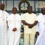 (Photonews) Gov. Ugwuanyi meets Bishops in Enugu