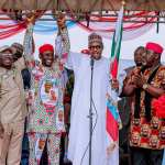 """''Electricity has no political colour,"""" President Buhari declares at inauguration of IPP in Aba; Campaigns in Abia, Imo states"""