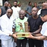 Ambode receives Diouf, Kanu Nwankwo, Finidi George, Zokora, other soccer legends