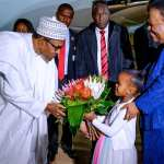 Buhari arrives S/Africa for State Visit, Bi-National Commission meeting