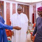 President Buhari receives Senate President, Lawan, Speaker, House of Reps, Gbajabiamila