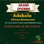 Adebola African Restaurant opens in Woodbridge Mall, New Jersey, USA