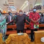 Obi, Ugwuanyi, Nwodo, Eze, 38 Bishops, others, grace dedication of Nsukka Catholic Cathedral