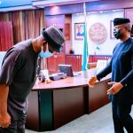 Vice President Osinbajo with Amb. Okoyen during Conference on Patriotism