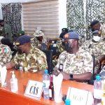 Buhari Visit: CDS, Service Chiefs, IGP storm Maiduguri