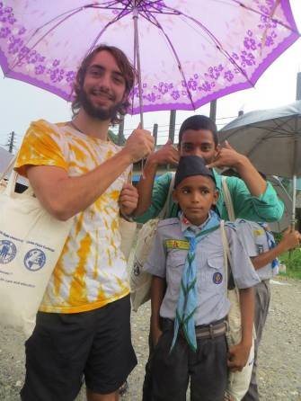 GPE gave away more than 2500 re-usable cotton bags to the people of meghauli and Daldale, Nepal