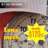 Impresión en lona tipo mesh, desde $120 m2