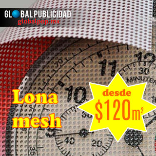 Impresión digital en lona mesh