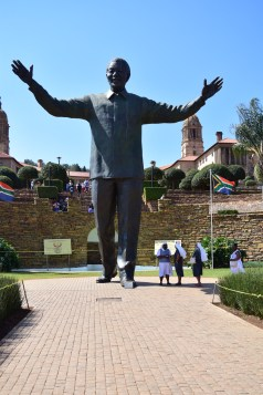 The Union Buildings just behind the statue
