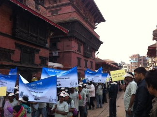 Waste workers campaign in Nepal.