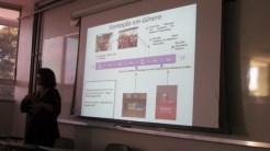 Linha do tempo do projeto em formação em gênero / Timeline of the gender workshop project