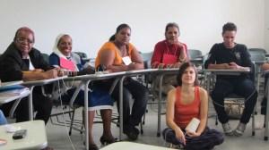 Discussões em grupo na oficina sobre gênero / Group discussions at the gender workshop