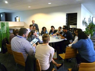 Meeting with the FES Foundation's Latin American leadership. Photo: Karin Pape
