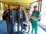 Delegates from Ethiopian trade unions with the waste picker delegates. Photo: Lucia Fernandez.