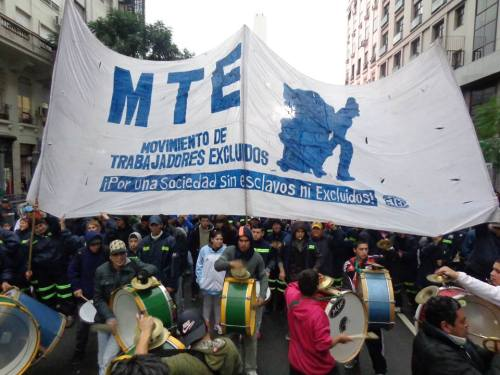Movilización Cartonera. Foto: MTE.