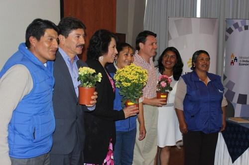 Leaders of Renarec celebrate the Interministerial Agreement in Quito, Ecuador