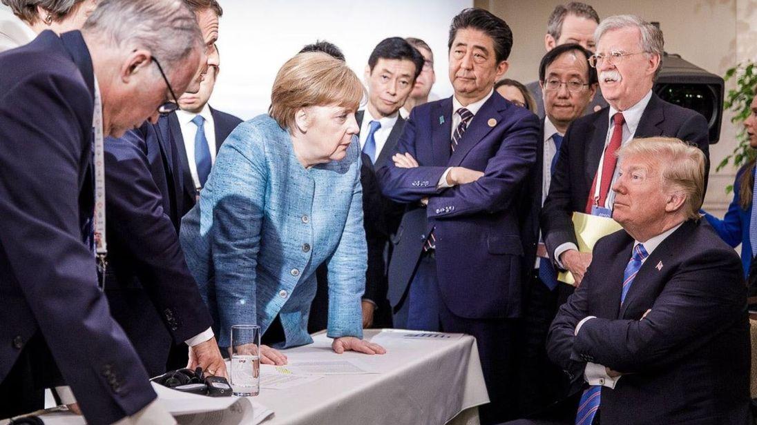 Caption Contest – Angela Merkel and Donald Trump at G-7