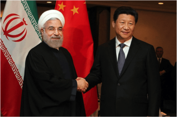 Iranian President Hassan Rouhani and Chinese President Xi Jingping.