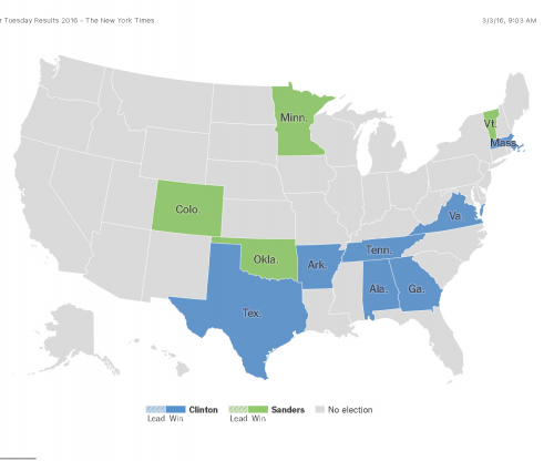 Super Tuesday Results 2016