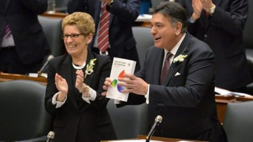 Kathleen Wynne and Charles Sousa